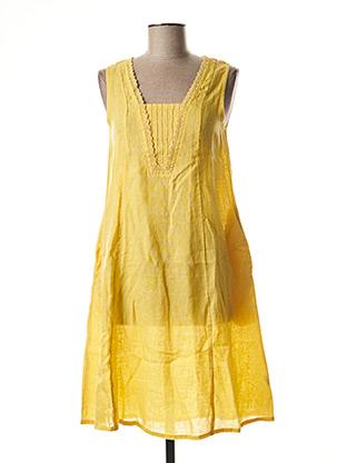 Robe mi-longue jaune AGATHE & LOUISE pour femme