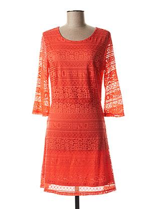 Robe mi-longue orange MOLLY BRACKEN pour femme