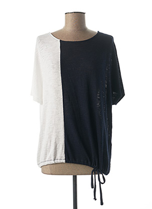 Pull col rond bleu STREET ONE pour femme