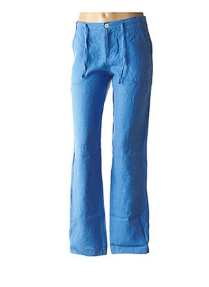 Pantalon chic bleu ET COMPAGNIE pour femme
