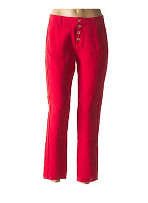 Pantalon chic rouge ONE STEP pour femme
