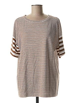 T-shirt manches courtes marron MAXMARA pour femme