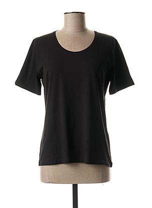T-shirt manches courtes noir NINATI pour femme