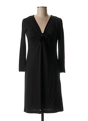 Robe mi-longue noir ROSSO 35 pour femme