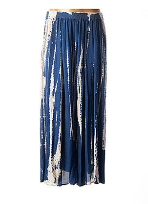 Jupe longue bleu BELLA JONES pour femme