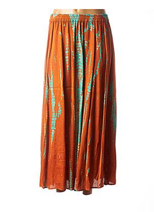 Jupe longue orange BELLA JONES pour femme