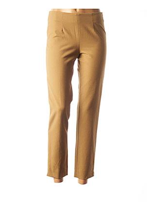 Pantalon casual beige ROSSO 35 pour femme