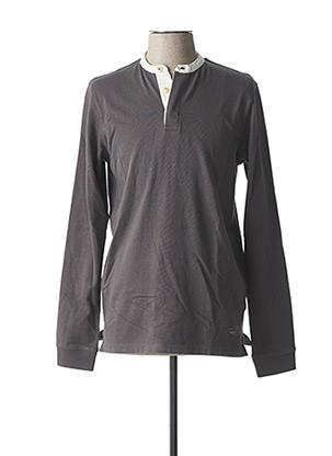 T-shirt manches longues gris JACK & JONES pour homme