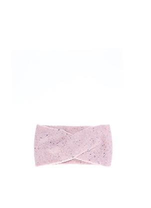 Bonnet rose PIECES pour femme