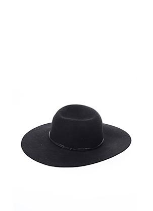 Chapeau noir PIECES pour femme