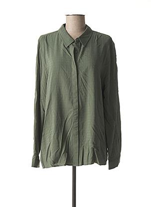 Chemisier manches longues vert CECIL pour femme