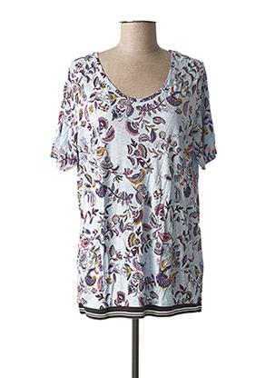 T-shirt manches courtes bleu CECIL pour femme