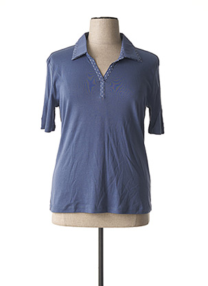 Polo manches courtes bleu GRIFFON pour femme