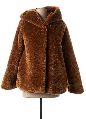 Manteau court marron SIGNE NATURE pour femme