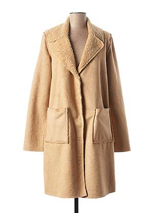 Manteau long beige SIGNE NATURE pour femme