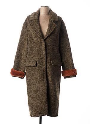 Manteau long marron SCHOOL RAG pour femme