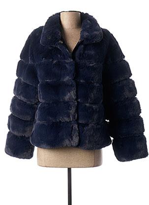 Manteau court bleu ESTHEME pour femme