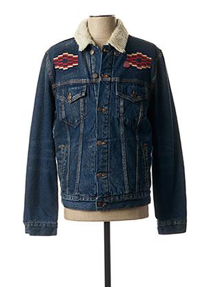 Veste en jean bleu DEUS EX MACHINA pour homme