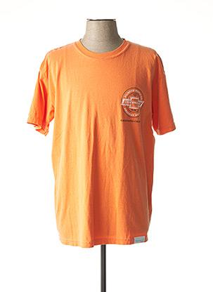 T-shirt manches courtes orange DIAMOND pour homme