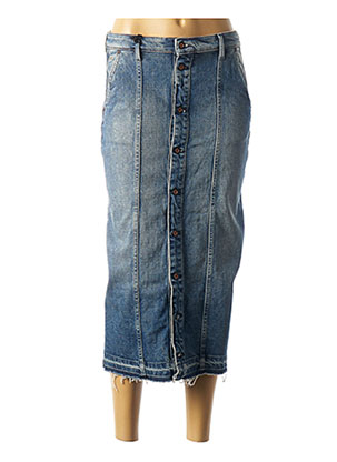 Jupe longue bleu DENHAM pour femme