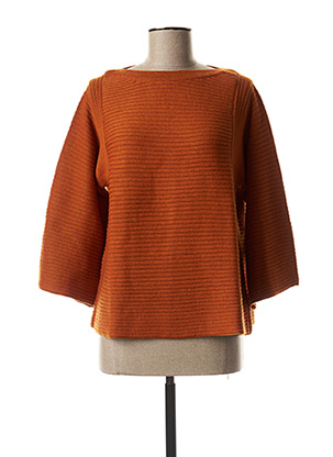 Pull col rond orange THOUGHT pour femme