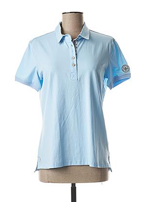 Polo manches courtes bleu MARINE DE SAVOIE pour femme