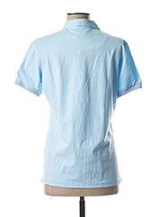 Polo manches courtes bleu MARINE DE SAVOIE pour femme seconde vue