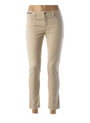 Pantalon 7/8 beige TELERIA ZED pour femme