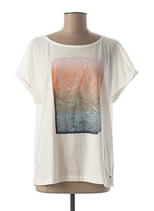 T-shirt manches courtes blanc ROXY pour femme