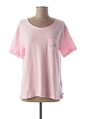 T-shirt manches courtes rose ROXY pour femme