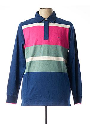 T-shirt manches longues bleu FYNCH-HATTON pour homme