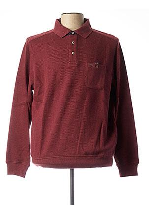 T-shirt manches longues rouge FYNCH-HATTON pour homme