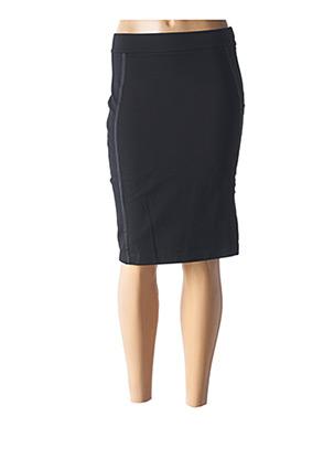 Jupe mi-longue noir PLATINE COLLECTION pour femme