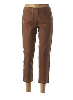 Pantalon 7/8 marron LUISA CERANO pour femme
