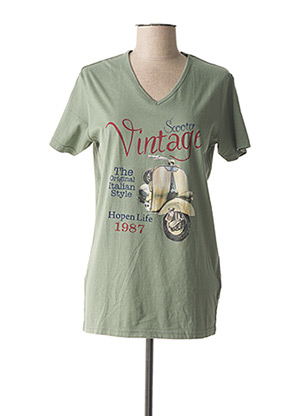 T-shirt manches courtes vert HOPENLIFE pour homme