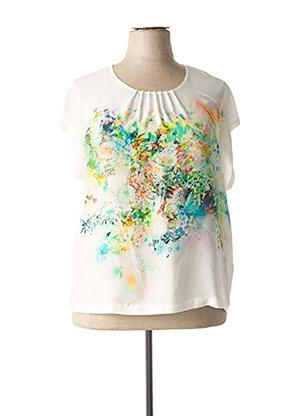 T-shirt manches courtes blanc SOMMERMANN pour femme