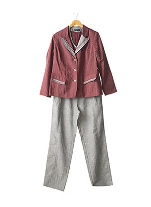 Veste/pantalon rouge CHRISTIAN MARRY pour femme