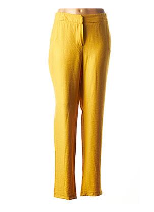 Pantalon casual jaune MERI & ESCA pour femme