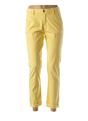 Pantalon casual jaune C'EST BEAU LA VIE pour femme