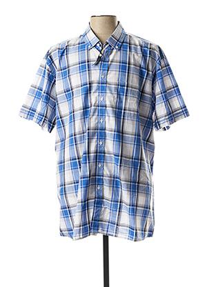 Chemise manches courtes bleu CHATEL pour homme