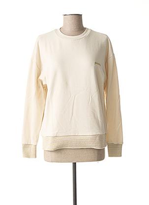 Sweat-shirt beige VERO MODA pour femme