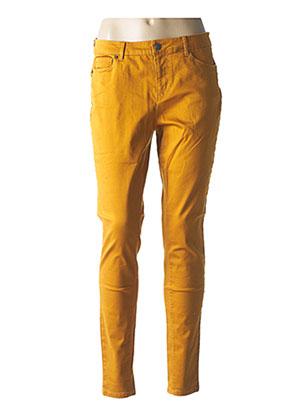 Jeans coupe slim marron VERO MODA pour femme
