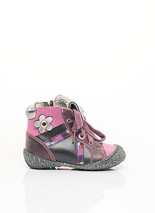Bottines/Boots rose GBB pour fille