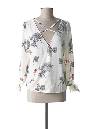 Blouse manches longues beige BY ONE pour femme