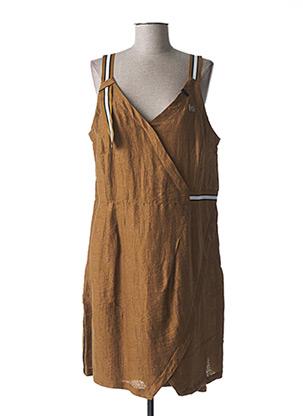 Robe mi-longue marron MADO ET LES AUTRES pour femme
