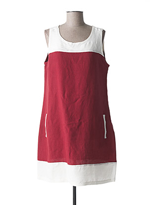 Robe mi-longue rouge ESPRIT DE LA MER pour femme