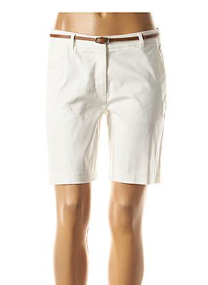 Bermuda blanc B.YOUNG pour femme