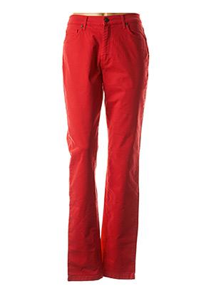 Jeans coupe droite rouge LCDN pour femme
