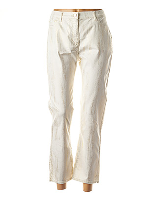 Pantalon 7/8 blanc JULIE GUERLANDE pour femme