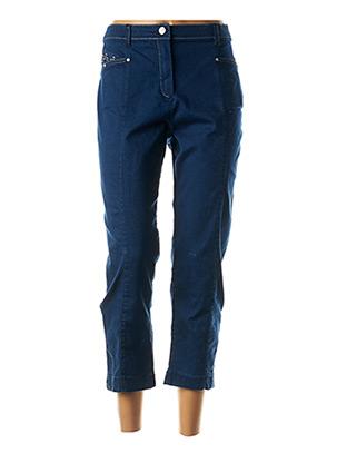 Pantalon 7/8 bleu CHRISTINE LAURE pour femme